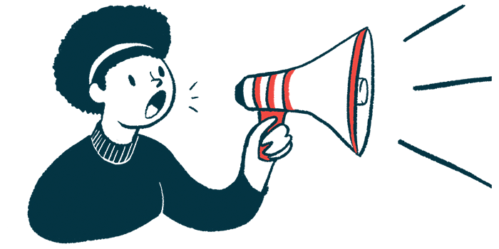 INV-102   Prader-Willi Syndrome News   Inversago Pharma and Health Canada   illustration of woman with megaphone